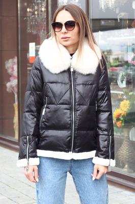 Теплая куртка парка с воротником стойка