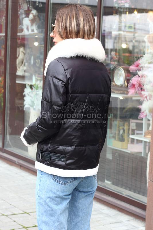 Длинный пуховик с капюшоном оверсайз черный
