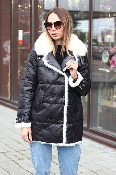 Длинное пальто mork anhanma серое
