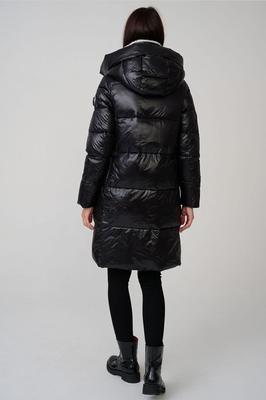 Зимний пуховик - пальто с песцовым воротником