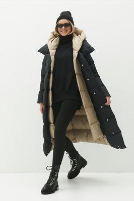 Женский недорогой пуховик с капюшоном на зиму