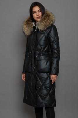 Классическое пальто женское на весну синее