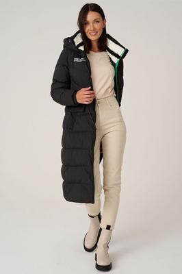 Приталенная куртка парка burberry с мехом енота