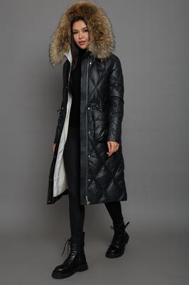Модное пальто на осень женское черное